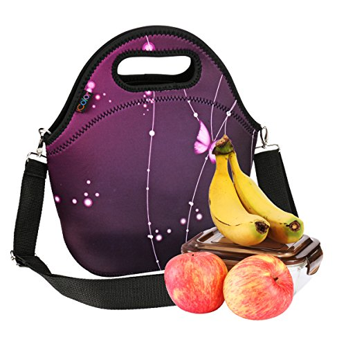 iColor Neoprene Lunch Bag, insulated lunch box with Shoulder Strap, Thermal Thick Lunch Tote Bag,Reusable Bags for Adults,Kids Great for Travel,Outdoors, Work,School & More YLLB-03 (Great Box Lunch)