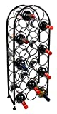 PAG 23 Bottles Metal Wine Racks Stand, Black