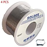 4Pcs 100G 0.8/1.0Mm Tin Weld Solder Wires Good Soldering-Ability Non-Corrosive For Electronics Sn 63% Pb 37% Flux 1.8% Hxs08X4 2-1.0Mm