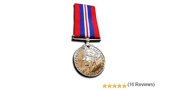 Goldbrothers13 - Réplica de medalla militar de guerra y campaña militar de 1939-1945 de las fuerzas armadas y la marina mercante: Amazon.es: Deportes y aire libre