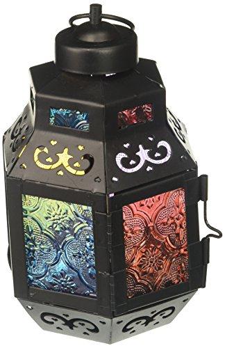 Zings & Thingz 57070827 Colorful Moroccan Candle Lantern, Black (Moroccan Large Cheap Lanterns)