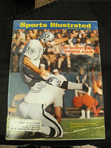 1970 Sports Illustrated November 23 George Blanda Oakland Raiders Excellent by Sports Illustrated