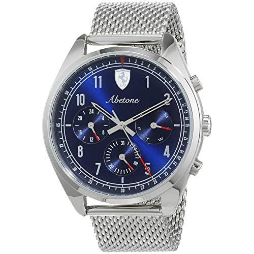 chollos oferta descuentos barato Scuderia Ferrari Reloj Multiesfera para Hombre de Cuarzo con Correa en Acero Inoxidable 830572
