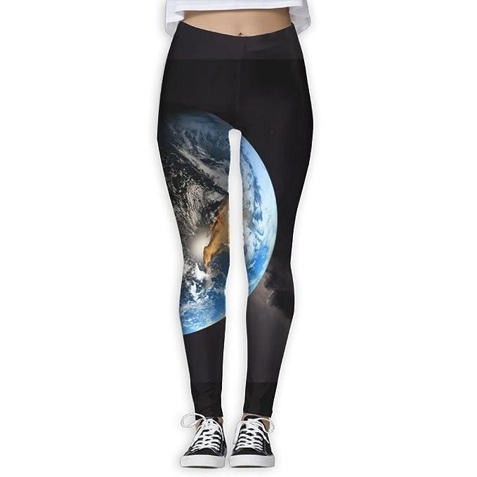 Amazon.com: Women/Girl Yoga Pant Planet Earth Wide High ...