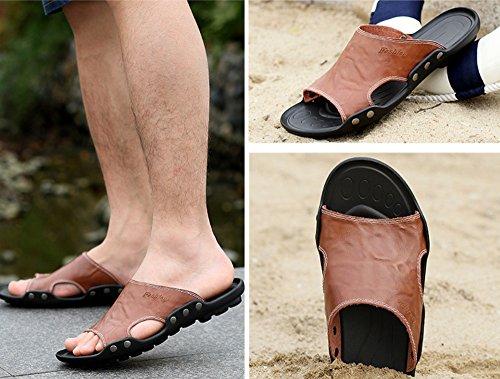 Elwow - Zapatillas de estar por casa de Material Sintético para hombre amarillo