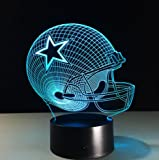 Football Helmet Light - Touch Control Football Helmet Light- Upgraded Color Changing Touch Light - Night Light for Boys Men Women - Perfect Gift for Football Sports Lovers