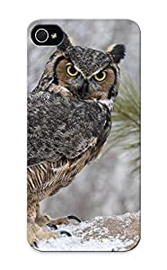 Design High Impact Dirt/shock Proof Case Cover For Iphone 5/5s (animal Great Horned Owl)