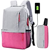 Super Modern Unisex Nylon School Backpack and Pen Box with USB Charger Port 14 Inch Laptop Bag for Teen Girls and Boys Sports Backpack Set(2 bags) Pencil Bag Pen Case Pen Pouch