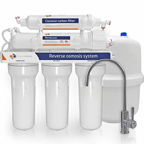 Aquaboon 50 Gallons Per Day 5 Stage Home Drinking Reverse Osmosis Filtration System (Day Reverse Osmosis)