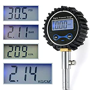 YUMSEEN High Accuracy Digital Tire Pressure Gauge (0~150 PSI),Lighted Led Lcd Display,Best For Car & Motorcycle