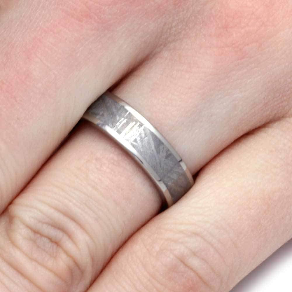 Jewelry By Johan Authentic Meteorite Ring, 6mm Titanium Wedding Band ...