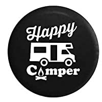 Pike Happy Camper Camp Fire Recreational Vehicle Trailer RV Spare Tire Cover OEM Vinyl