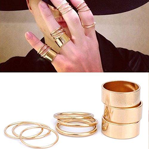 vendita limitata scelta migliore up-to-date styling Fancy party accessori 9PCS sopra le nocche, fascia anelli ...