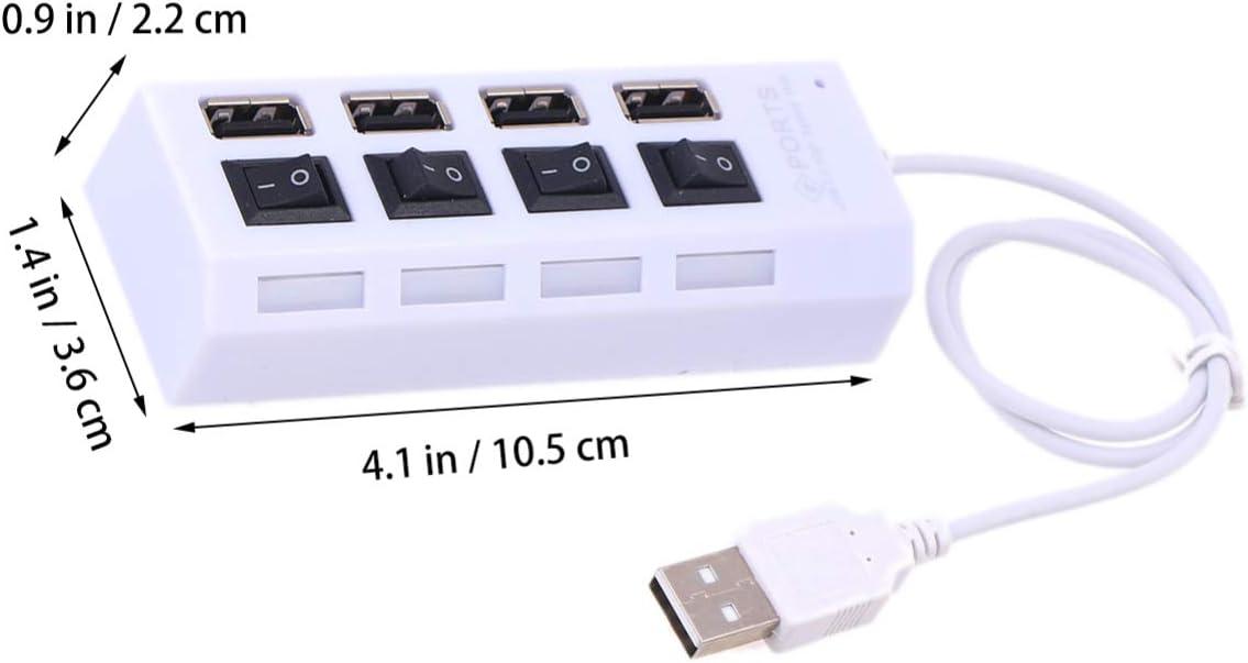 Blanco Mobestech 1 Pc Hub USB port/átil 4 Puertos Hub de expansi/ón de Datos del Divisor USB de Alta Velocidad para computadora port/átil tel/éfono PC computadora