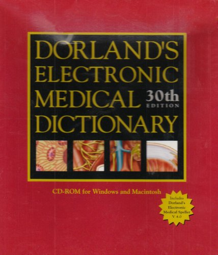 Dorland's Electronic Medical Dictionary, Revised Reprint, CD-ROM
