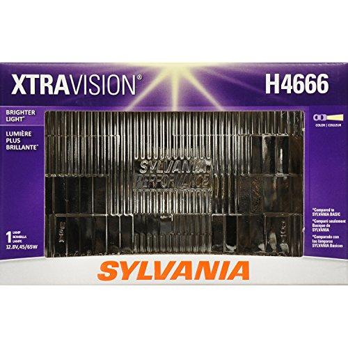 SYLVANIA H4666 XtraVision Halogen Sealed Beam Headlight 100x165, (Contains 1 Bulb)