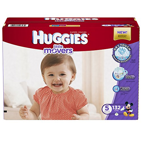 Huggies Little Movers, Taille 5, 132 Count (emballage peut varier)