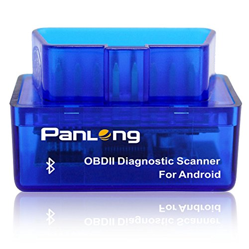 Panlong PL-B02 Bluetooth Car Diagnostic Scanner Code Reader (OBD2 OBDII Check Engine Light for Android - Compatible with Torque Pro)