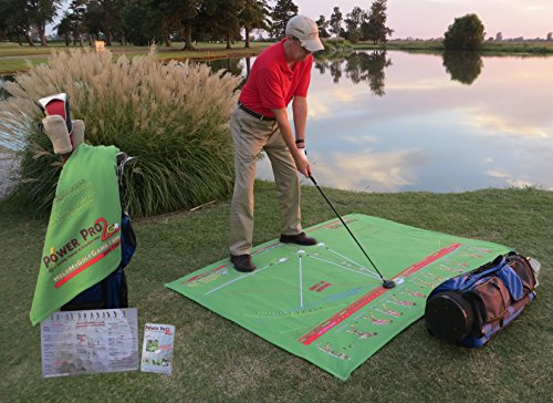 Portable Golf Swing Trainer & Practice Mat Indoor Or Outdoor Putting Chipping Hitting Driving Range Training Aid