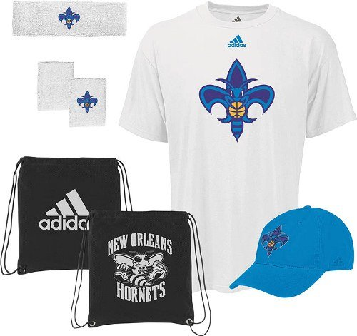 New Orleans Hornets 5-Piece Shirt Hat Combo Pack - Large