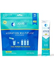 Liquid I.V. Hydration Multiplier, Electrolyte Powder, Easy Open Packets, Supplement Drink Mix (16 Count)