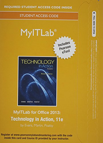 Myitlab With Pearson Etext    Access Card    Technology In Action
