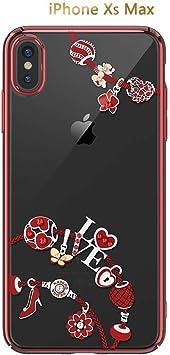 Estuche Original de Diamantes de imitación KAVARO for Apple iPhone XS MAX/XR Fundas de Cristal Swarovski Element for iPhone XS MAX (Color : Red, Size : iPhone XS MAX): Amazon.es: Electrónica