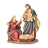 Holy Family Joseph Holding Baby Jesus 5 x 7.5 Resin Christmas Nativity Scene Figurine
