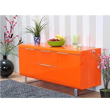 Kommode Milano - Hochglanz orange: Amazon.de: Küche & Haushalt