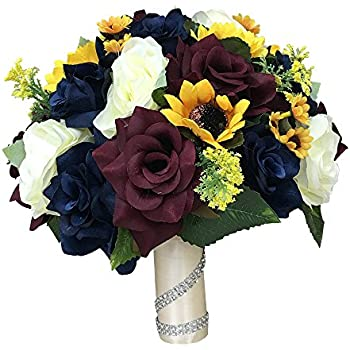 Amazon.com: 17 piece Wedding Bouquet package Bridal ...