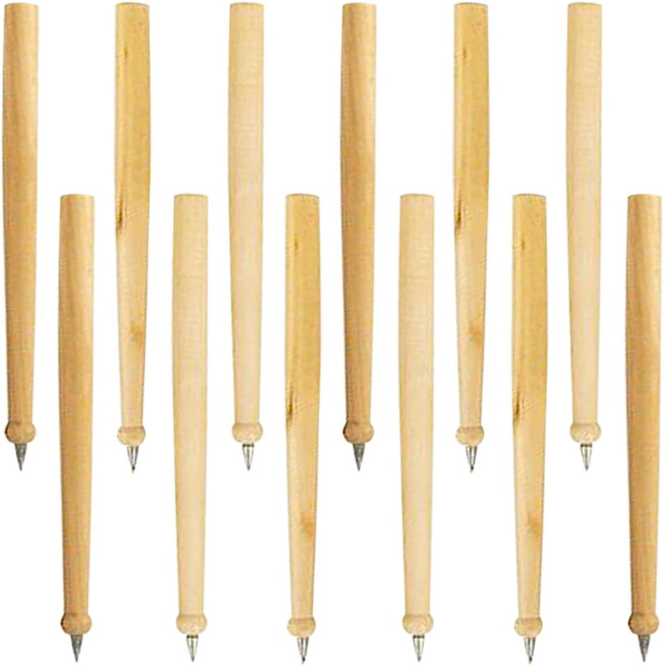 ArtCreativity Wood Baseball Bat Pens, Set of 12, Writing Pens for Kids with Black Ink, Cool Baseball Birthday Party Favors, Sports Party Supplies, Classroom Teacher Rewards, and Goodie Bag Fillers