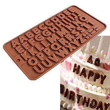 26 Buchstaben Aus Silikon Schokolade Kuchen Basteln Sussigkeiten