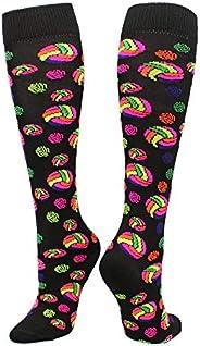 Krazisox Neon Volleyball Logo Socks