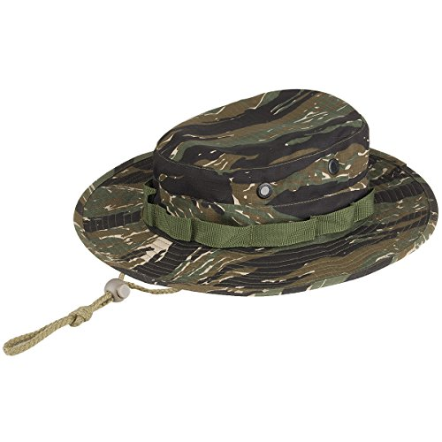 Army Boonie Bush Jungle Hat Cap Tiger Stripe Camo SIZE L ()