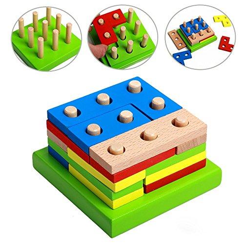 Preschool Educational Toys : Wooden educational preschool shape early developmental