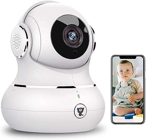 Opinión sobre Cámara de interior, 1080P Cámara de seguridad inalámbrica para el hogar con detección de movimiento, visión nocturna (1080white)