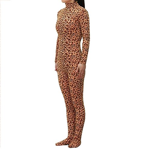 Leopard Halloween Costume Ideas (Muka Adult & Kid Zentai Unitard Bodysuit Halloween Costume Catsuit)