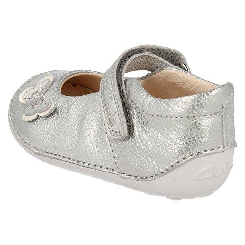 Clarks Baby Mädchen Little Mia Krabbel-& Hausschuhe Silber