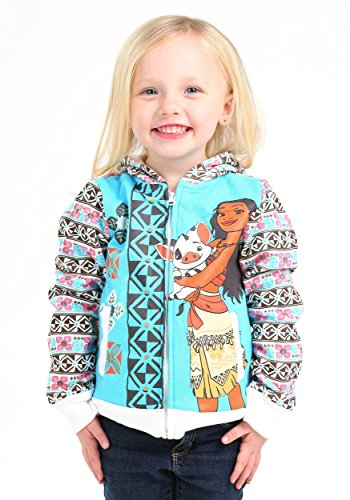 Disney Little Girls' Toddler Moana Hoodie with Printed Sleeves