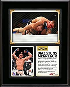 """Nate Diaz Ultimate Fighting Championship 10.5"""" x 13"""" UFC 196 Victory Over Conor McGregor Sublimated Plaque - Fanatics Authentic Certified"""