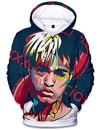 Silver Basic 3D Printed Hoodie Men Xxxtentacion Unisex Fan Hooded Sweatshirt