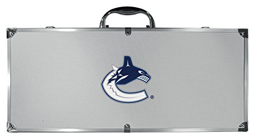 (Siskiyou NHL Vancouver Canucks 8 pc Stainless Steel BBQ Set W/Metal Case)