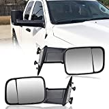 DakRide Pair of Towing Side Mirrors Driver Passenger Side Power Heated Folding Tow Rearview Mirror For 1999-2016 Dodge Ram 1500 2010-2016 Dodge Ram 2500 3500 4500 5500 Truck Pickup