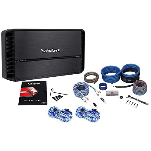 Rockford Fosgate Punch P1000X5 1000 Watt RMS 5-Channel Car Amplifier+Amp Kit