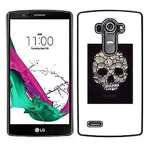 Be-Star Único Patrón Plástico Duro Fundas Cover Cubre Hard Case Cover Para LG G4 ( Skull Soap Bubble Death Poster White )