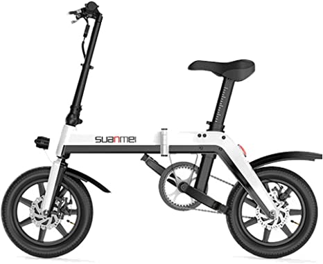 Bicicleta Eléctrica Plegable para Adultos De 14 Pulgadas, Batería ...