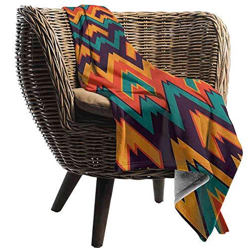 Blanket Retro,Colorful Zig Zag Pattern Stroller Blanket - Collegiate Stroller