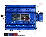 Heavy Duty 18oz Lumber Tarp 20x18 (6' Drop with 6' x 8' Flap) - Blue