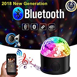 Disco Ball Disco Lights Party Lights Bluetooth Speaker USB Powered Disco Strobe Lights Birthday Gift for Kids Remote Control Sound Activated Rotating Machine Lighting for DJ Dancing Wedding by YouthBelief