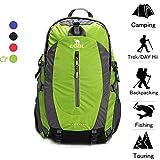 CAMEL CROWN 50L Waterproof Hiking Backpack Travel Daypack Backpacks Outdoor Camping Trekking Backpacking Green